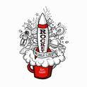 Rocket Mobile Café Logo- 3 color