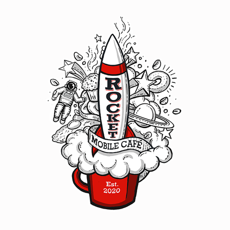 Rocket Mobile Café Logo- 3 color