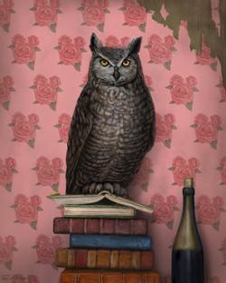 """Book Owl | Night Worm"""