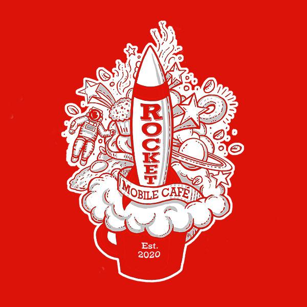 Rocket Mobile Café Logo- 2 color