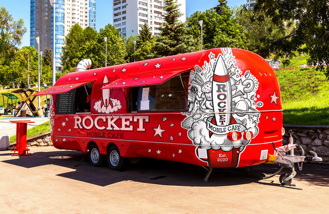 Rocket Mobile Café Exterior Graphics