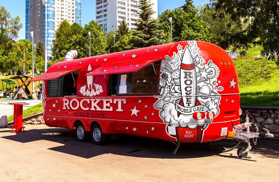 Rocket Mobile Café Exterior Graphics