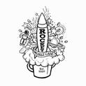 Rocket Mobile Café Logo- Outline