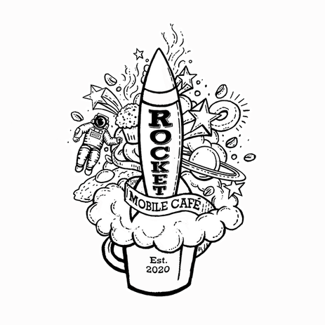 Rocket Mobile Café Logo- Outline