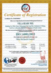 1SURV18- Certificate 14k- Villa Ready Mi