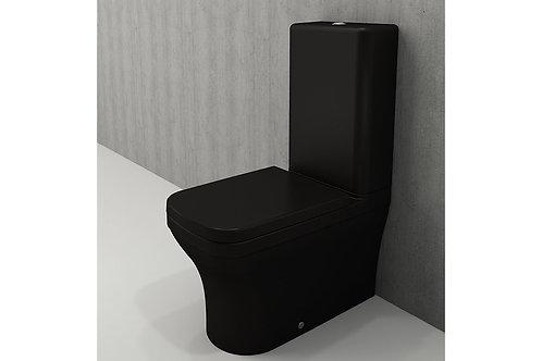 WC À POSER ALL BLACK MAT + planche soft close