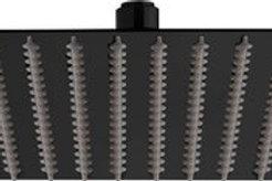 Rainshower noir mat carré 30x30
