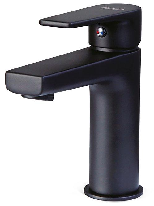 Sharp mitigeur lavabo noir mat