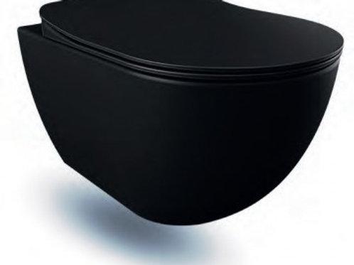 WC ALL BLACK DESIGN MAT + planche soft close