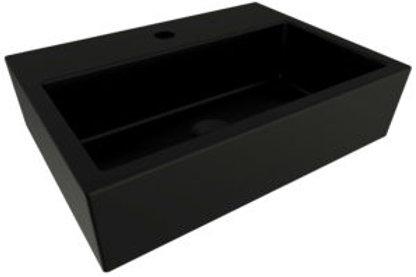 Vasque à poser 48cm noir mat