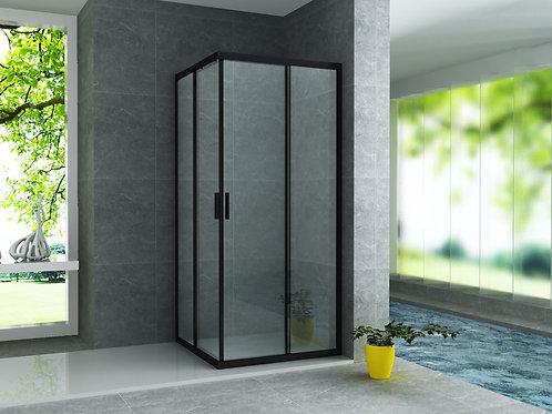 Cabine de douche noir mat 90x90