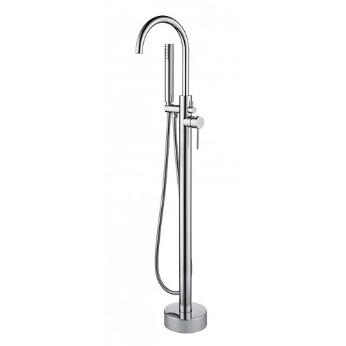 Robinet de bain auto portant chrome