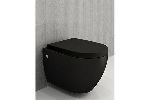 WC Suspendu Noir Mat + Planche soft-close
