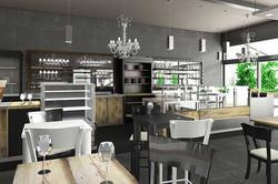 Lounge bar, arredo componibile, banco co