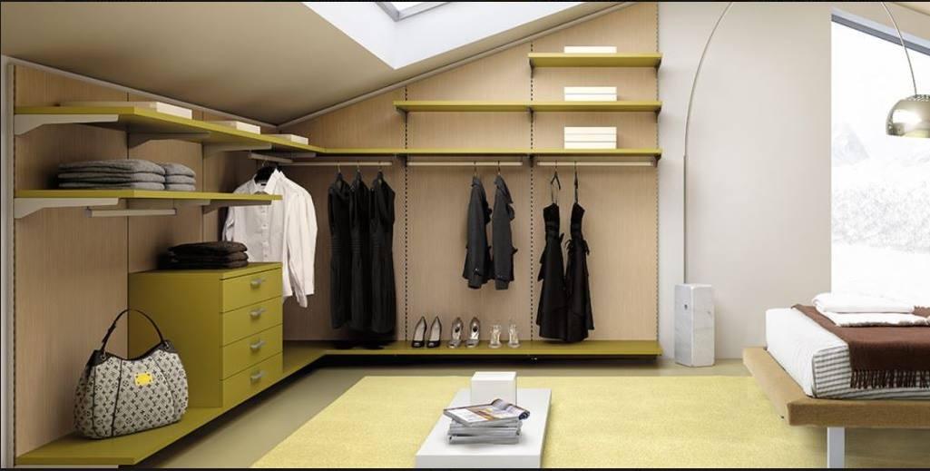 Cabina armadio per mansarda
