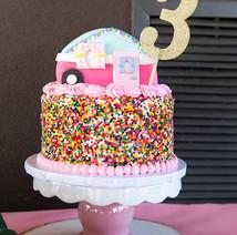 Glamping Sprinkle Cake