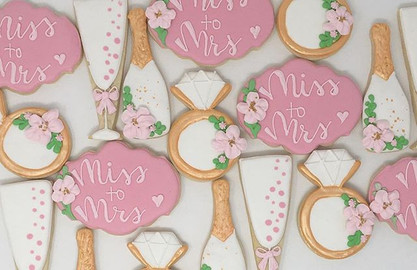 Bubbly Wedding Cookies