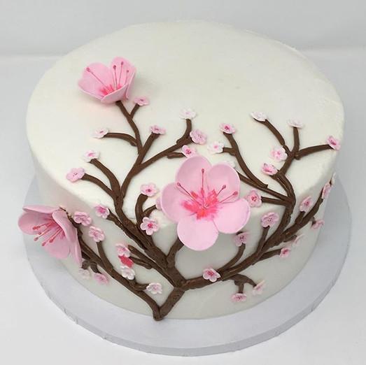 Cherry Blossum Cake