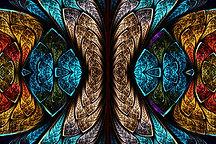 Buntglas-Muster