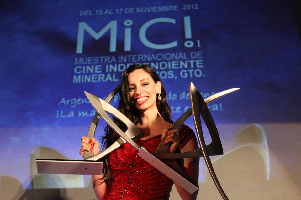 FICIP Ana Fontan. Ganadora Mejor Actriz Internacional y Homenaje Internacional. Guanajuato, Mineral