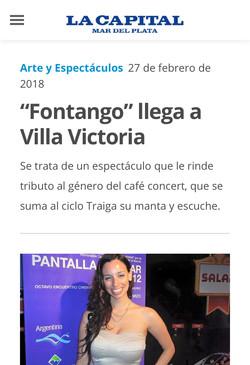 ANA FONTAN FONTANGO CAFÉ CONCERT