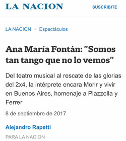 ANA FONTÁN LA NACIÓN TANGO PIAZZOLLA CCGSM