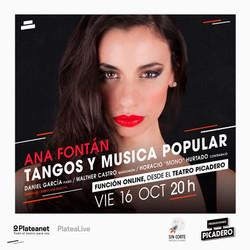 Ana Fontán _ Daniel García _ Walther Castro _ Horacio _Mono_ Hurtado_ Tangos y música popular_ Strea