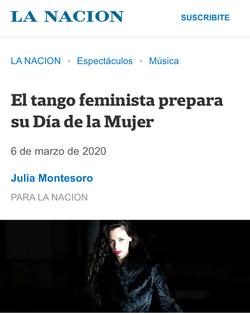 ANA FONTÁN DÍA DE LA MUJER _ TANGO FEMINISTA _ LA NACIÓN