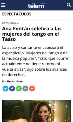 ANA FONTÁN TASSO MUJERES DEL TANGO