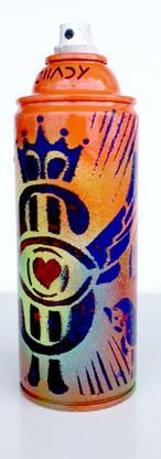 Spray Can Art - Flying Dollars |  Objet D'Art | Original Artwork | Orange 4