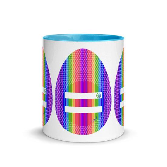 Equality First Mug with Blue Color Inside