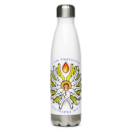 I Am Protected - White Angel - Stainless Steel Water Bottle