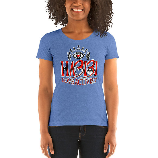 Habibi - Ladies' short sleeve Blue Triblend t-shirt