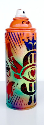 Spray Can Art - Flying Dollars |  Objet D'Art | Original Artwork | Orange 2