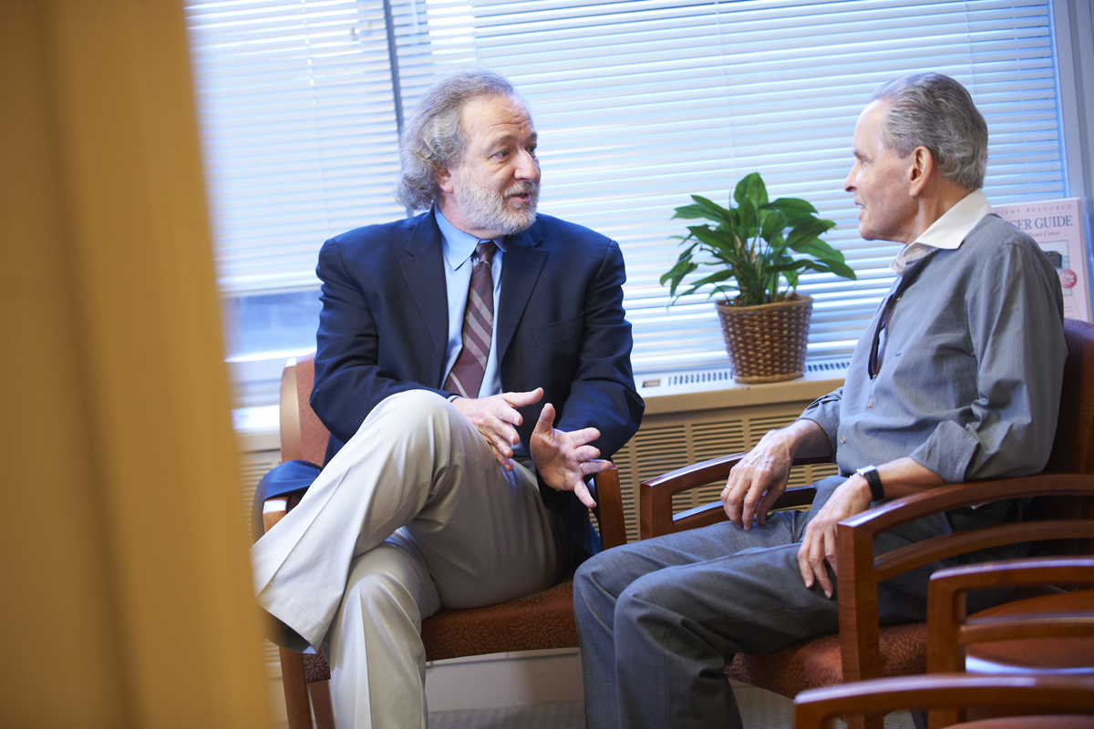 William Breitbart (left), Chair of the Department of Psychiatry and Behavioral Sciences,