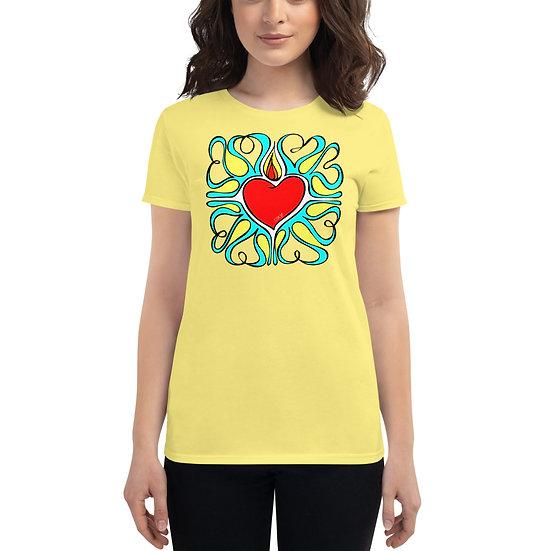 Flame Of Love | Women | Spring Yellow short sleeve t-shirt