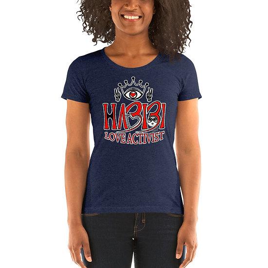 Habibi - Ladies' short sleeve Navy Triblend t-shirt
