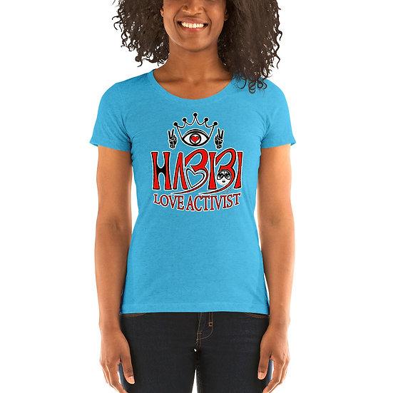 Habibi - Ladies' short sleeve Light Blue Triblend t-shirt