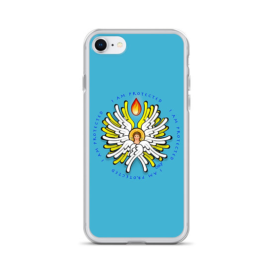 I Am Protected - White Angel - iPhone Case