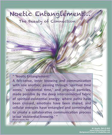 Noetic Entanglement, Dr Marie Dezelic, Artist Chady Elias