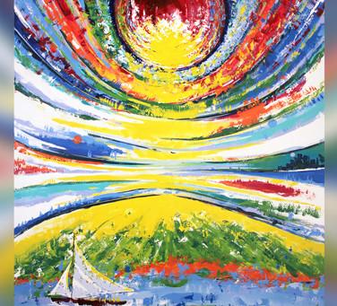 Harmonious Presence - Painting & Poem