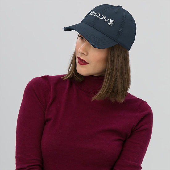 Distressed Dad Hat with CHADY Logo