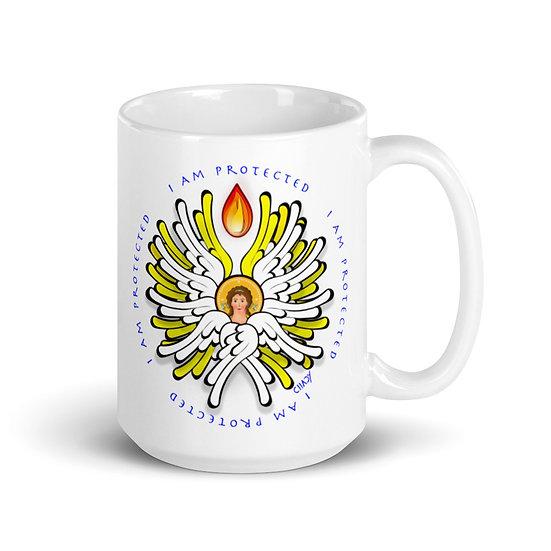 I Am Protected - Angel - glossy mug