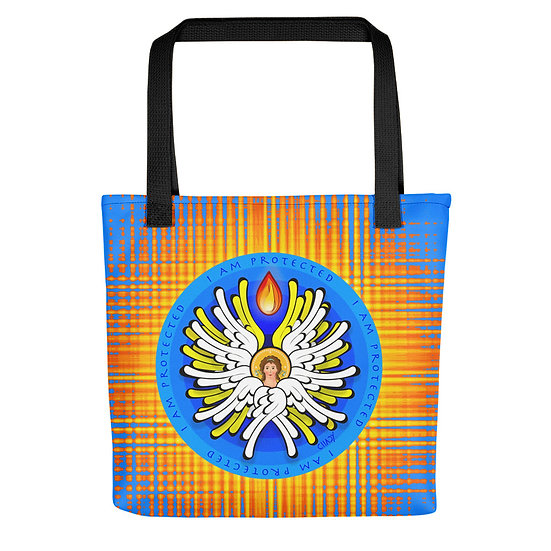I Am Protected - White Angel - Tote bag