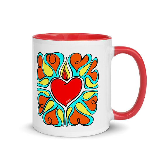 Flame of Love   Mug with red Color Inside