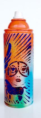 Spray Can Art - Flying Dollars |  Objet D'Art | Original Artwork | Orange 5