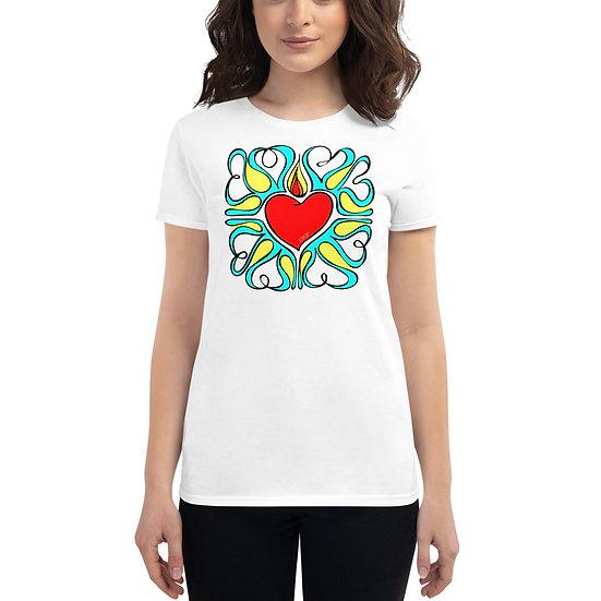 Flame Of Love | Women | White short sleeve t-shirt