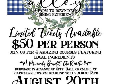 Rialto Arts Council Plans Unique Dining Fundraiser