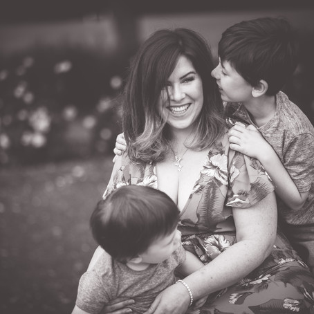 Lydia and her boys at Kings Park, Retford Lincolnshire