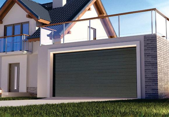 Porton Enrollable Simil Seccional Automático para Garaje